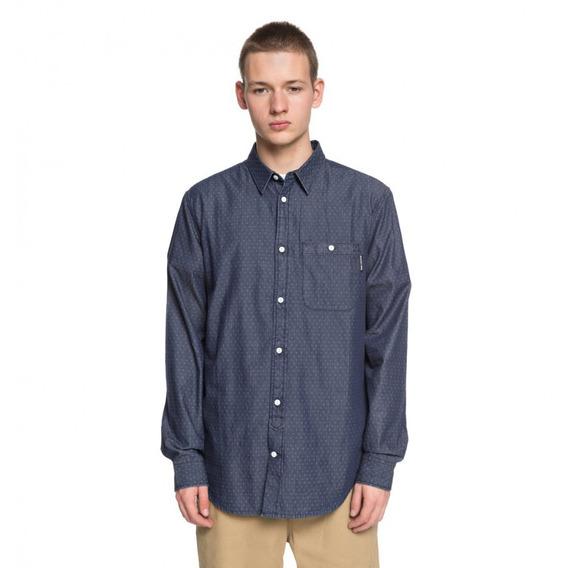 Dc Camisa M/l Lifestyle Hombre Swalendalen 2 Azul
