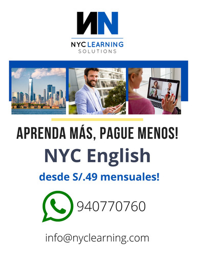 Curso Internacional De Inglés: 1 Mes O 3 Meses