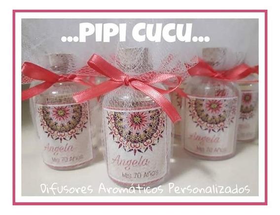 10 Difusores Aromaticos Souvenirs Personalizados 30cc - Tul