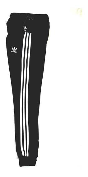 Pants adidas Negro Tradicional Franjas Completas Nuevo Jogge