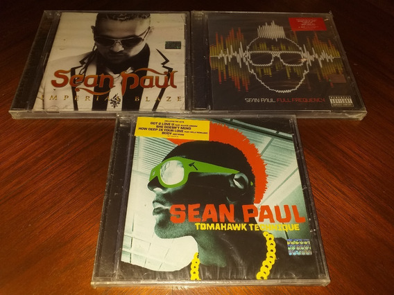 Lote 3 Cd Sean Paul Nuevos Imperial Blaze Full Frequency