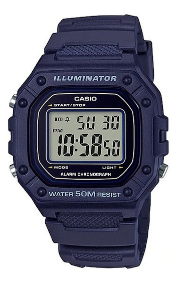 Relógio Casio Unissex W-218h-2 Azul