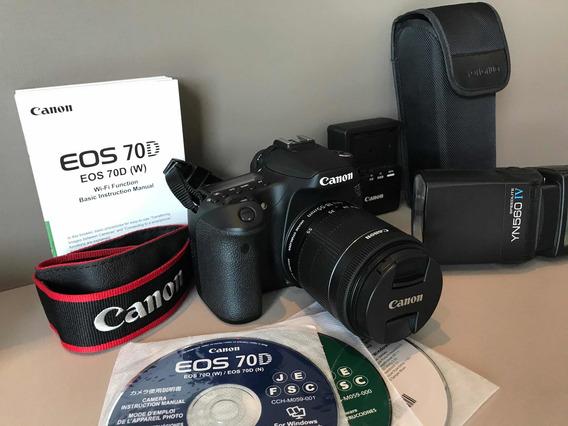 Câmera Canon 70d + Flash Aceito Trocas