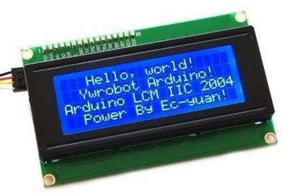 Display Lcd Arduino I2c 20x4 E Conversor De Nivel 3.3v/ 5v