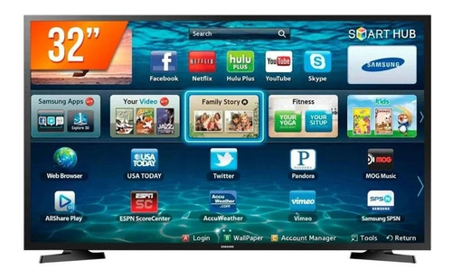 Smart Tv Samsung Led 32 Polegadas Hd Wifi 2 Hdmi 1 Usb