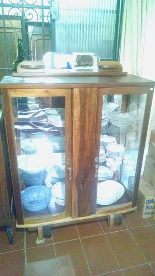 Cristaleira/armario/guarda Louças Em Embuia Antiga