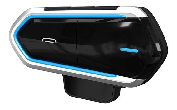 Capacete Da Motocicleta Bluetooth Carro Fone De Ouvido Preto