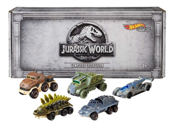 Jurassic World Hot Wheels 5 Carros Exclusivos Escala 1/64