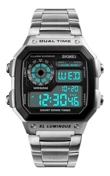 Reloj Deportivo Hombre Plata