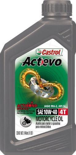 Castrol Actevo 4t 10w-40 Aceite Para Moto Cajax6 Ud
