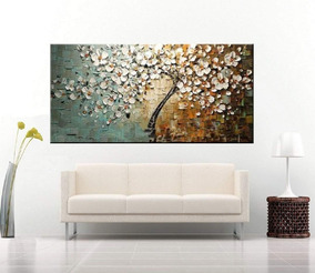 Quadro Abstrato Moderno 80x160cm Pronto Para Pendurar