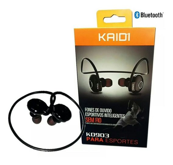 Fone Intra Auricular Bluetooth Wireless Sport Kd 903 Kaidi