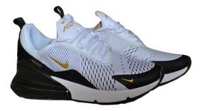 Kp3 Zapatos Caballeros Nike Air Max 270 Blanco Dorado