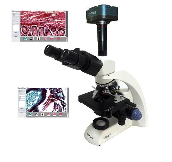 Microscopio Biologico Trinocular 40x 2000x Led + Camera 1.3m