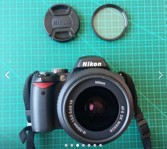 Câmera Nikon D60 (não Filma!) + Lente Vr 18-55mm Com Case