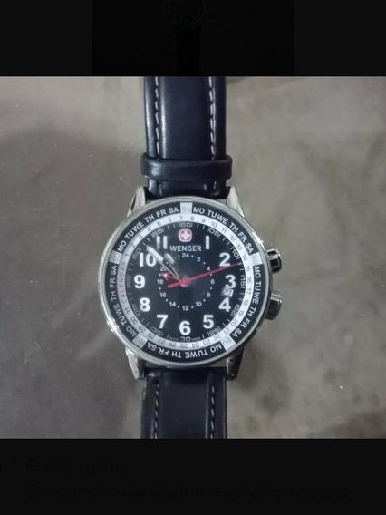 Relógio Suíço Wenger - Quartz- 40mm De Diâmetro