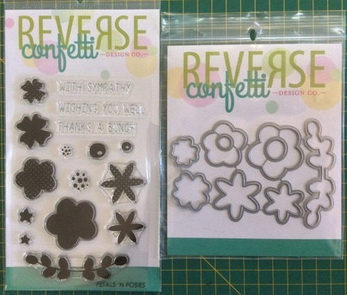 Reverse Confetti Kit Stamp And Die Cuts Petal 'n Posies