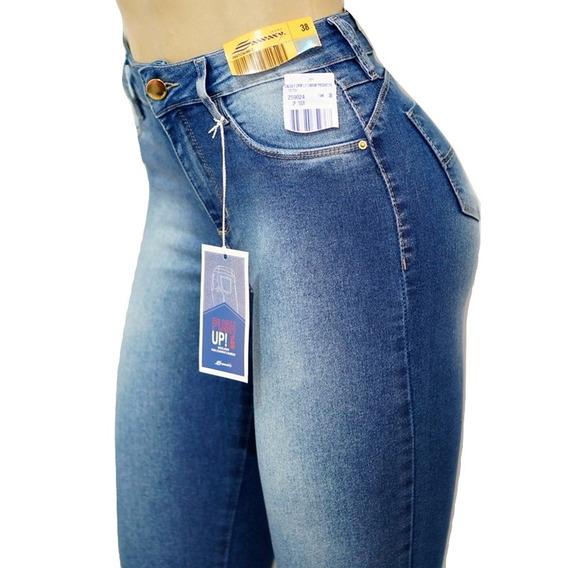 Calça Jeans Sawary Original Cintura Alta Com Elastano