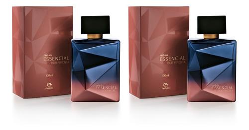 Kit 2 Deo Parfum Essencial Oud Pimenta Masculino Perfume