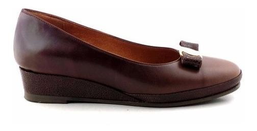 Zapato Chatita Mujer Cuero Briganti Vestir Moda - Mccha2904