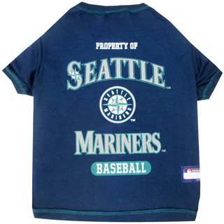 Mlb Seattle Mariners Dog T-shirt, Small. - Licensed Shirt Fo