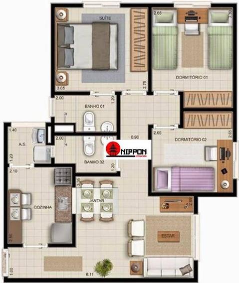 Apartamento Com 3 Dormitórios À Venda, 60 M² Por R$ 270.000 - Jardim Albertina - Guarulhos/sp - Ap1289