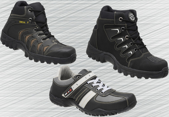 Kit 3 Pares De Botas Coturno Adventure