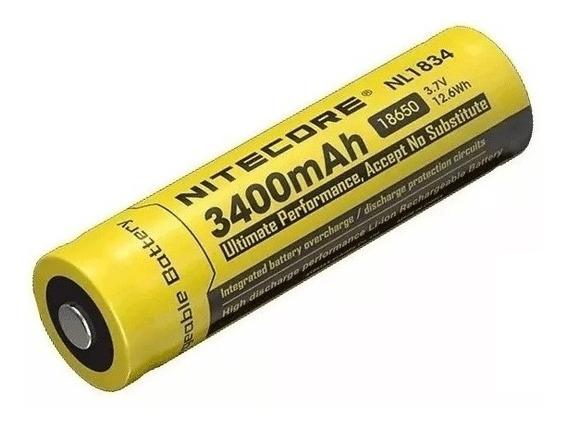 Bateria Nitecore 18650 Íon-lítio 3.7v 3400 Mah Nl1834 +case