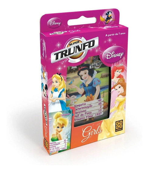 Super Trunfo Disney Girls Grow