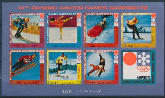 Yemen Sapporo 1972 Juegos De Invierno Hb Sin Dentar