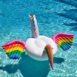 Boia Pegasus Unicornio Com Asas Inflável 110cm