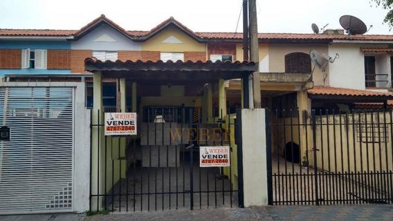 Lindo Sobrado 2 Vagas, Jardim Monte Alegre - Taboão Da Serra - So0632