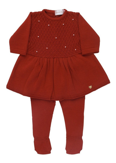 Vestido Tricot Com Legging Perola Pp