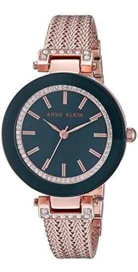 Reloj De Mujer Anne Klein Pulsera De Malla Acentuada