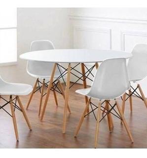 Mesa De Cocina Diseño Eames Redonda 1 M. De Diámetro