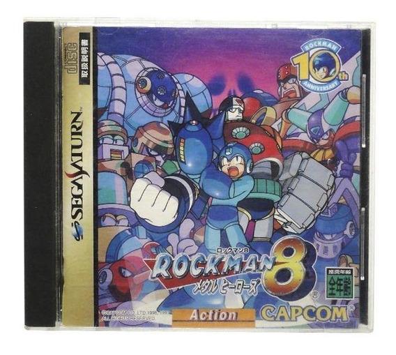 Rockman 8 Metal Heroes Sega Saturn Japonês Mídia Física