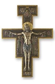 1588 Pulgadas San Damián Crucifijo Placa De Pared Decorativo