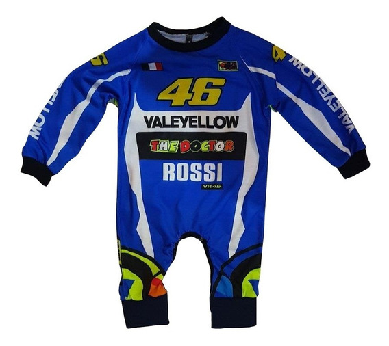 Body Bebes Pañalero Yamaha Valentino Rossi Manga Larga