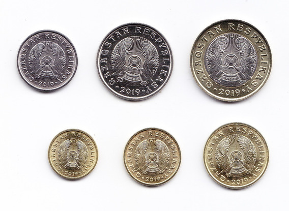 Kazajistan Set De 6 Monedas 2019 Teng Unc Sin Circular