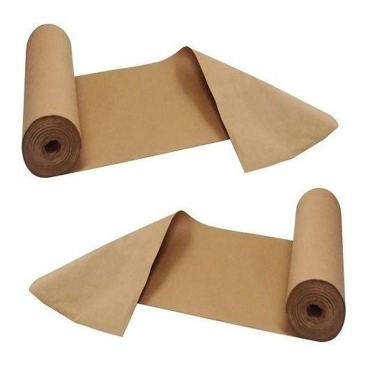 Kit Com 2 Rolos Papel Pardo Kraft Embalagem 80g/m² X 60cm