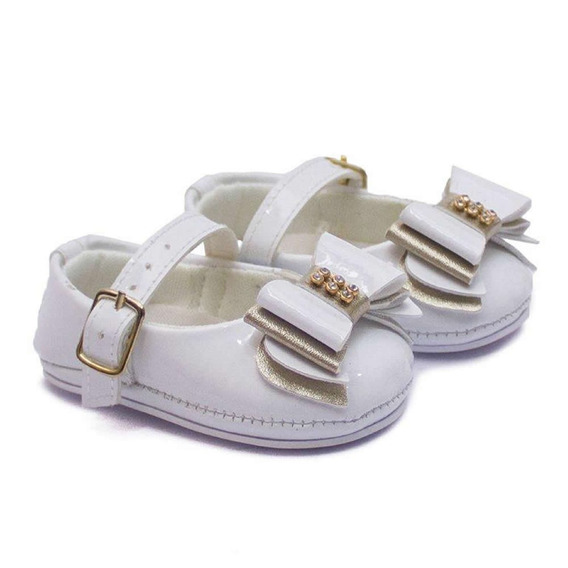 Sapato Sandália Infantil Bebê Menina Baby Way Branco