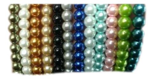 50 unidades Ø 6 mm marrón 32620 Miperla vidrio despierta perlas