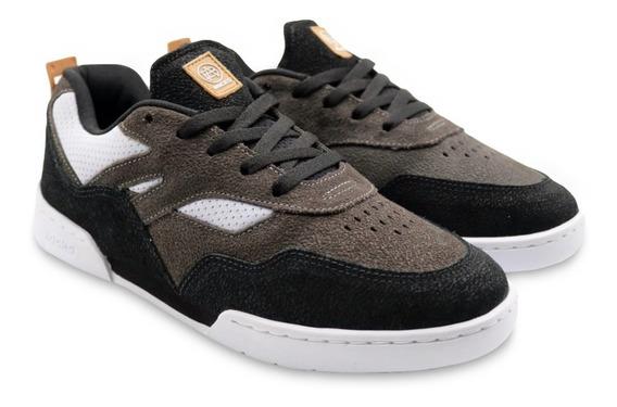 Tênis Hocks Skate Vita Preto Black Branco Cinza Masculino E Feminino Sneaker Couro Confortável Original Envio Imediato