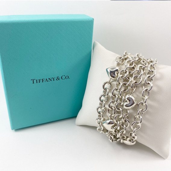 Pulsera Corazon Tiffany & Co. En Plata Fina Original