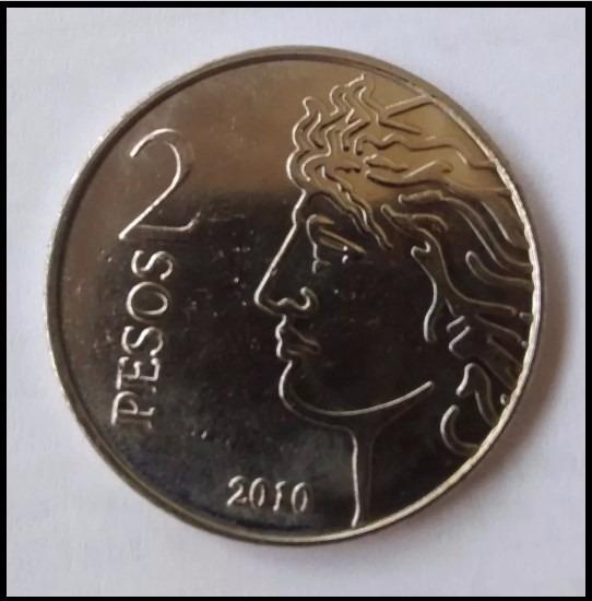 Argentina Moneda De 2 Pesos 2010 75° Aniversario Bcra