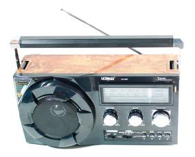 Rádio D/ Mesa 3 Faixas Áudio P/ Casa Portátil Mp3/4 Lanterna