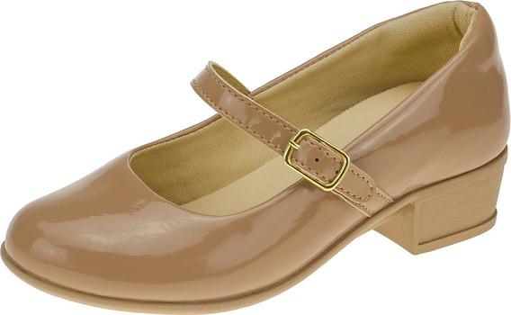 Sandalia Boneca Juvenil Sapato Feminina Salto Sapatilha