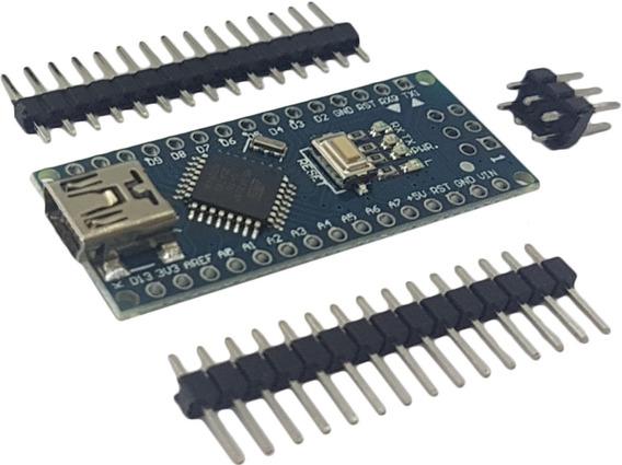 Placa Nano V3 Pino Não Soldado + Cabo Usb Para Erduino Nano