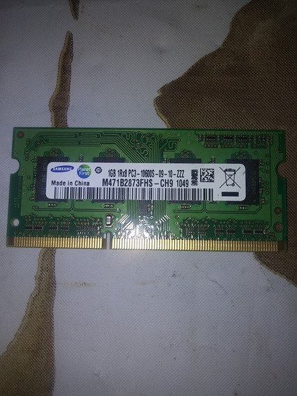 Memoria Notebook Ddr3 1gb Samsung Pc3-10600 Rosario