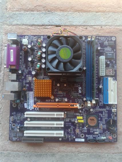 Kit Completo Sempron 2800 ( Ecs - K8m800-m2) + Brinde